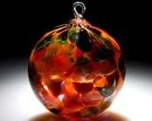 Ornament Suncatcher Hand Blown Art Glass in Orange Magic - 1 ea by Totally Blown Glass
