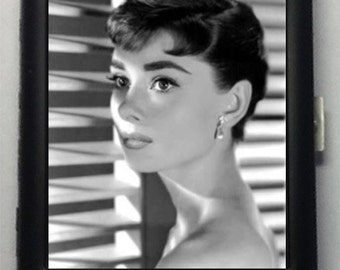 Audrey Hepburn Black Metal Wallet Cigarette Case  No. 258