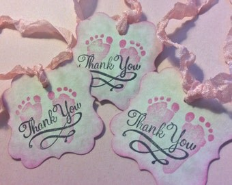 Baby Girl Gift tags / Baby Shower gift Tags ( QTY 25)