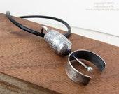Industrial Modern Mens Necklace. Hardworking Design.