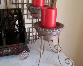 Vintage Iron Pillar Candleholder