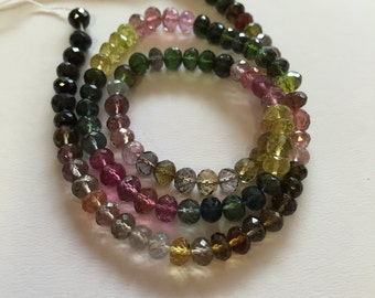 Tourmaline Faceted Rondelles-5mm