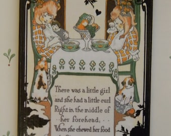 There Was A Little Girl and She Had A Little Curl Decorative Wall Plaque Sign