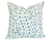 Les Touches Aqua Pillow Cover (Single-Sided) - Made-to-Order