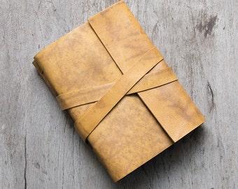 "4x6"" Leather journal, leather notebook, travel journal notebook, diary sketchbook, graduation teacher gift, blank book, hand bound journal"