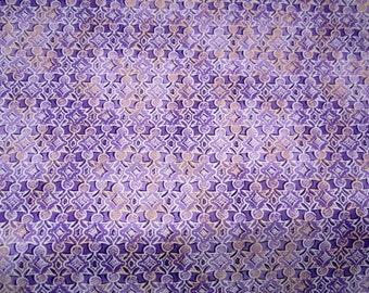 Shangri La Medium Purple Geometric cotton quilting fabric from Quilting Treasures - 23697-V