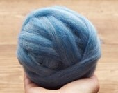 Country Blue Wool Roving for Needle Felting, Wet Felting, Spinning, Light Blue, Sky Blue, Baby Blue, Fiber Arts, Craft Supplies