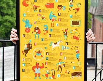 Carnival Alphabet Kids Poster