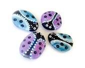 Painted Rocks, 4, Ladybug Set, pastel ladybugs
