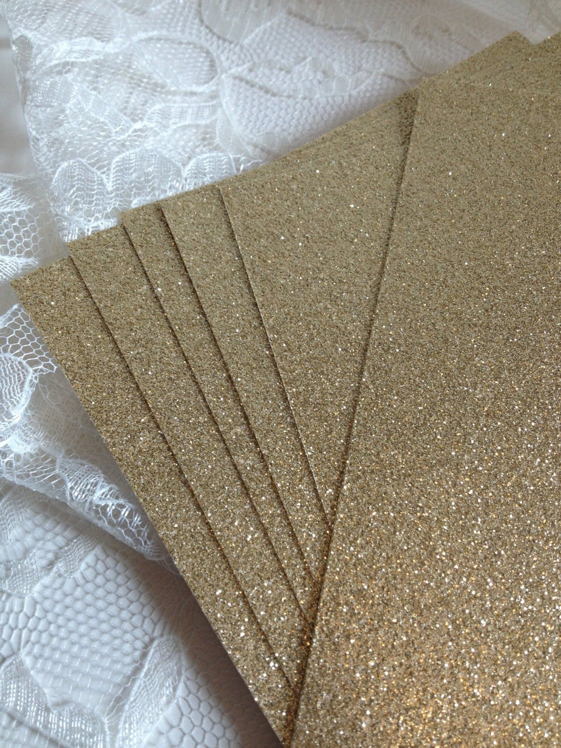 Gold color cardstock paper 5x7 -  22 95