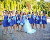 Blue Convertible Bridesmaid Dress - Over 50 Colors - INFINITY - WRAP - CONVERTIBLE  Bridesmaid Wedding Dress