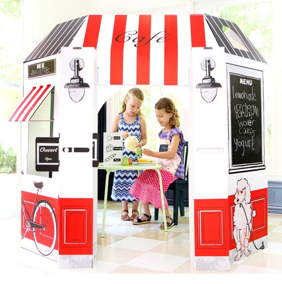 Kid's Cardboard French Cafe Playhouse