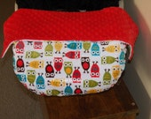 Infant Car Seat Blanket Owl Minky 50% off