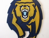 Cal Golden Bear logo with antique finish