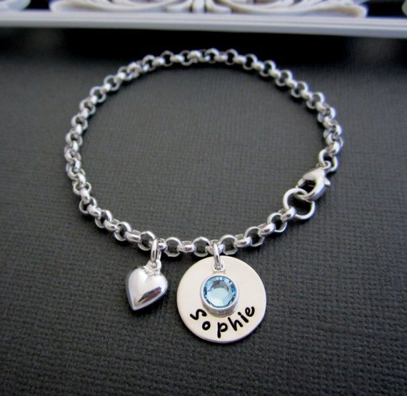 Personalized Baby Bracelet Children's Bracelet by ShinyMetals   Personalized Baby Jewelry For Girls