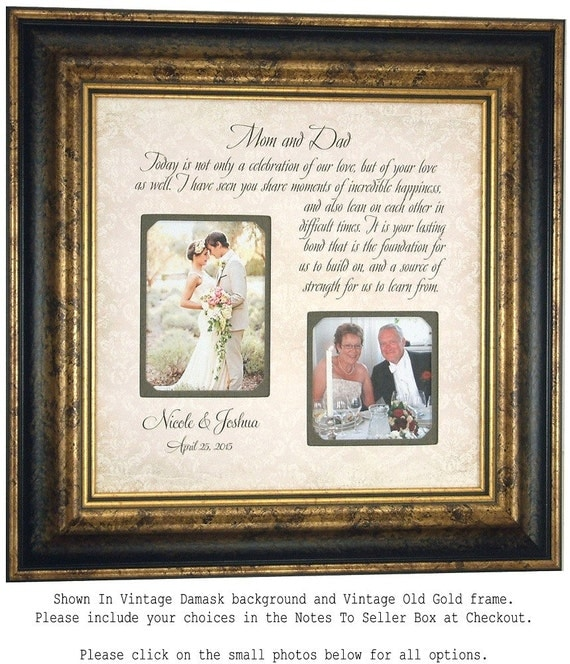 Picture Frame, Wedding Gift For Parents, Parents Gift, Thank You Gift ...