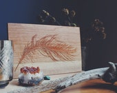 Feather Wall Hanging - Laser Engraved Wooden Art Home Decor