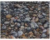 Pebbles in the Stream Watercolor Painting