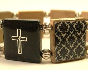 Joy and Faith Scrabble Bracelet