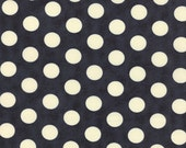Reserved Custom Order for Claire - 4.75 yards of Navy with white Polka Dot Backing Fabric for Puddle Jumpiing Quilt Kit-
