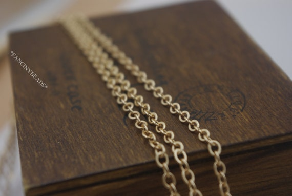 Big Sale-Fabulous kc gold cable chain-100 feet handmade jewelry must-have-F405