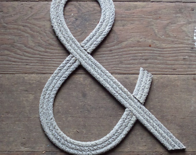 12 Inch Rope Letter or Numbers Nautical Nursery Baby Showers Weddings Kids Room MADE TO ORDER Beach Cowboy Cowgirl Rustic Nautical