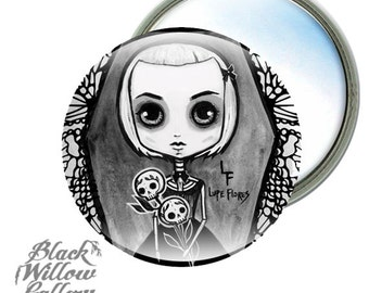 Coffin Dead Girl Mirror by Lupe Flores