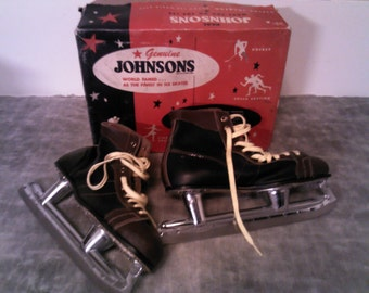 Vintage Genuine Johnsons Ice Skates