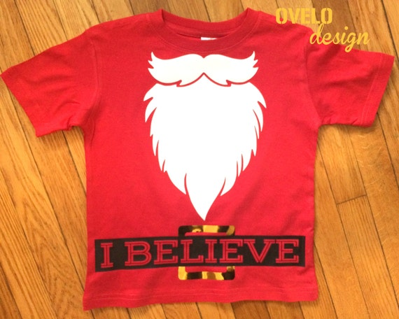 I Believe Santa Beard Bodysuit Long or Short Sleeve