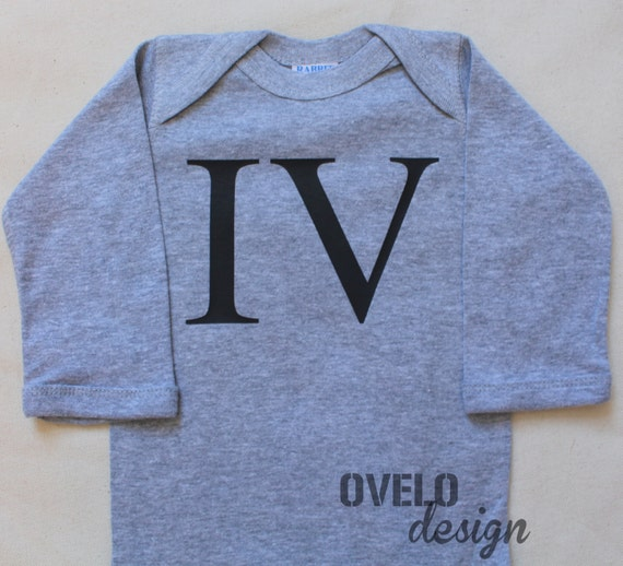 The 4rd Baby with Legacy Name Roman Numeral Baby Bodysuit