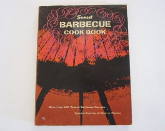 Retro Sunset Barbecue Cook Book from 1962