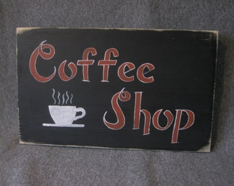 Coffee Shop Sign Wall Hanging
