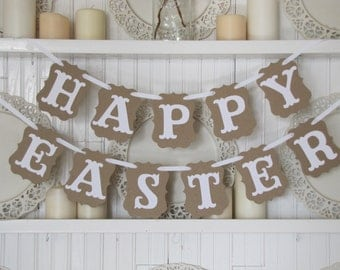 HAPPY EASTER Banner, Easter Decoration, Happy Easter Sign