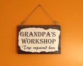 Grandpa's Workshop Sign - handmade wooden sign - father's day - dad gift - grandpa gift - garage sign - workshop sign