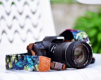 iMo Artistic Floral Camera Strap with quick release buckles for DSLR / SLR