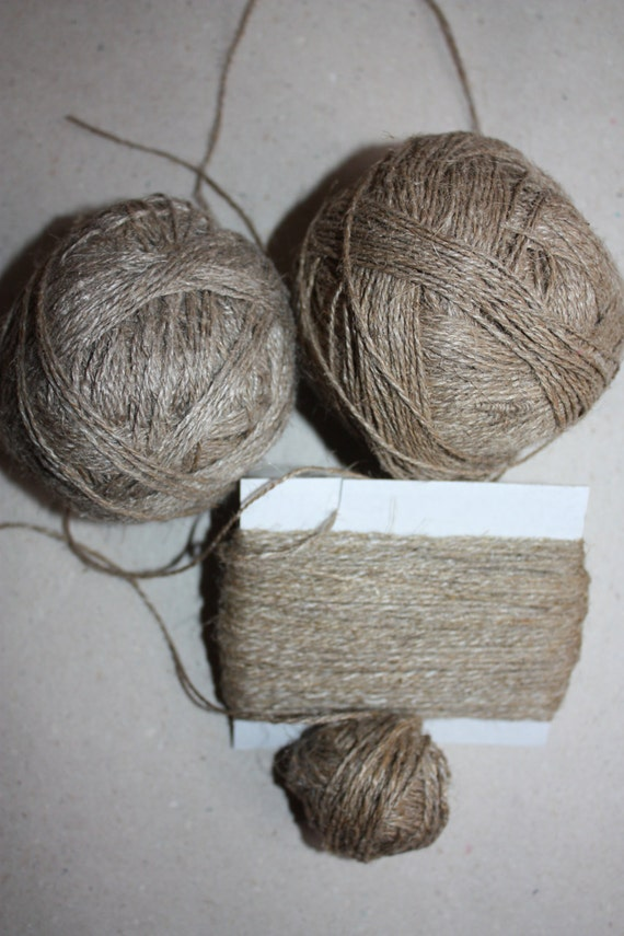 EXCLUSIVE Vintage Linen Yarn - Natural and Elegant Twisted Yarn