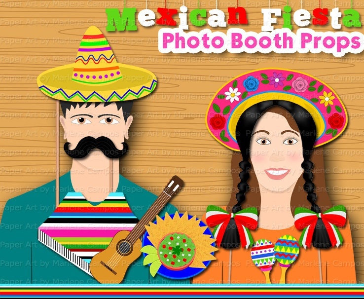 Mexican Fiesta Photo Booth Props Mexican Fiesta By