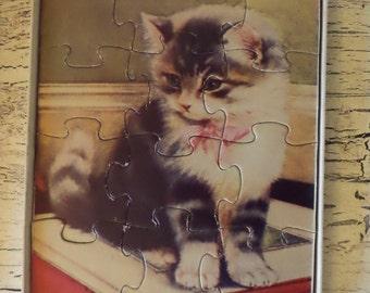 Antique Children's Animal Puzzles - Set of Three in Original Box - Madmar