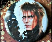 "SALE - Jareth, The Goblin King - Large 2.25"" Button"