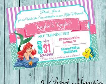 The Little Mermaid Printable Invitation