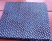 Beigh navy cotton fabric - woven fat quarter