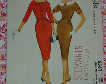Vintage Pattern c.1960 McCall's No.5561 Dress, Size 16, Uncut