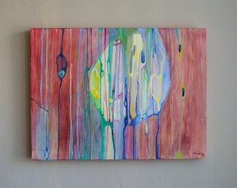 Original Art Large abstract contemporary painting multicolor fine art