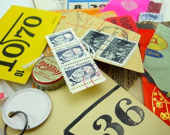 the MOTHERLODE craft pack: 50 authentic vintage and other ephemera items for your creative projects, not reproductions but the real deal