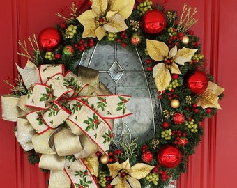 Christmas Holiday 20' inch Sparkling artificial pine wreath