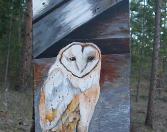 Owl painting - original acrylic
