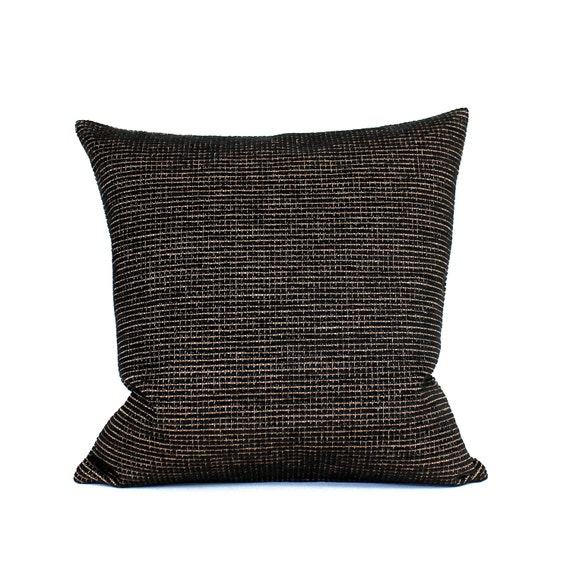 Chenille Throw Pillow Covers : 16x16 Black Pillow Cover Chenille Upholstery Fabric Decorative