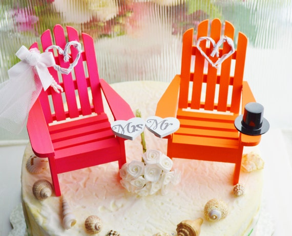 wedding cake topper mini adirondack beach chair wedding cake topper miniature adirondack by 26354