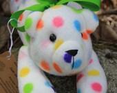 Circus Polka Dotted Fleece Bear