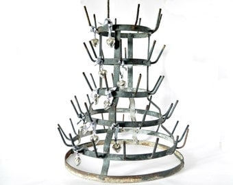 French Vintage Zinc Wine Bottle Drying Rack Bottle Rack